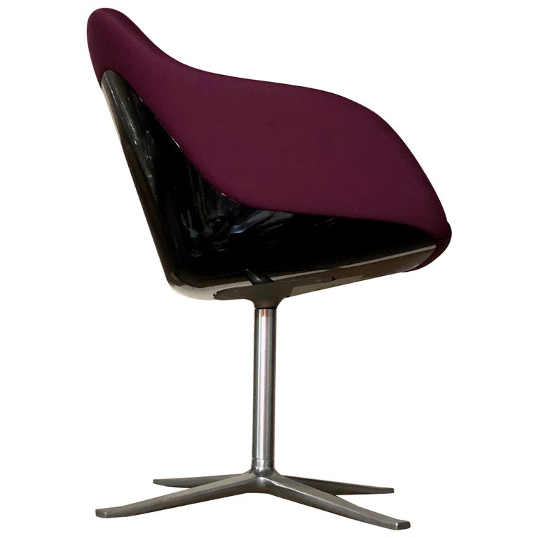 Walter Knoll Four Star Base Turtle Chair For Sale