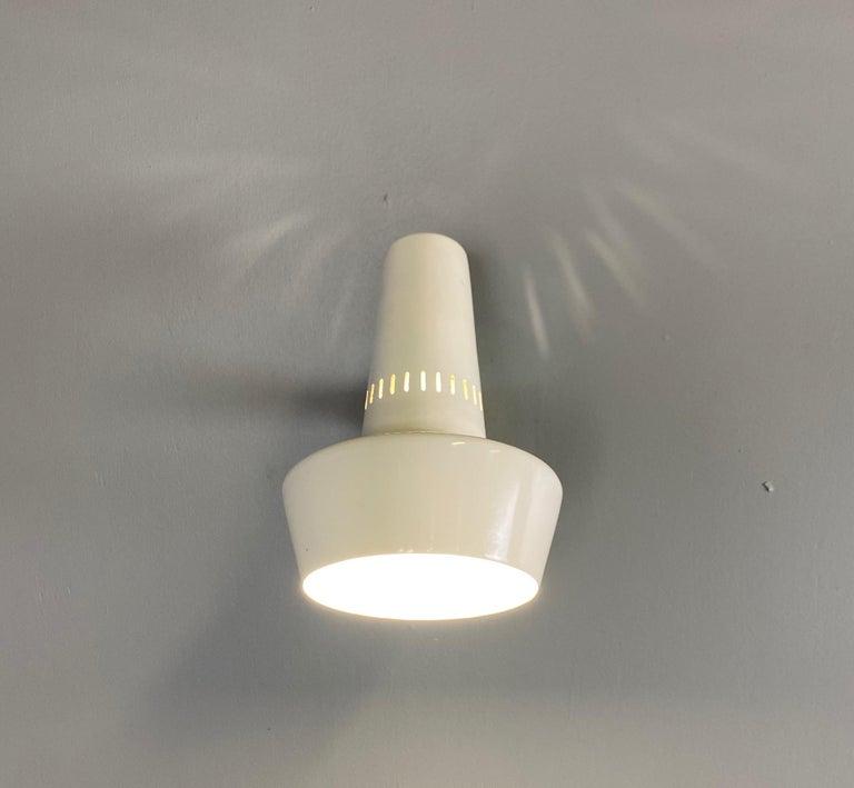 Mid-Century Modern Four Stilnovo Brass Adjustable Wall Lamp, 1960s For Sale