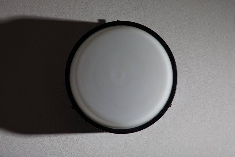 Mid-20th Century Stilnovo Flush Mount Ceiling Light For Sale