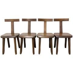 Four T-Chairs by Olavi Hänninen for Mikko Nupponen, Finland, circa 1950