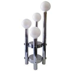Four-Tier Chrome Table Lamp