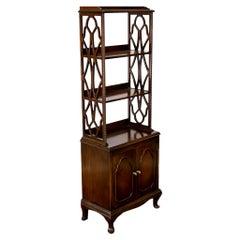 Four-Tiered Mahogany Shelf/Cupboard