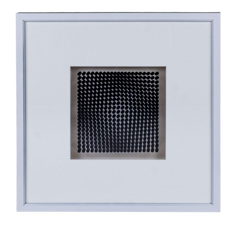 Mid-Century Modern Four Vasarely Prints, Oeuvres Profondes For Sale