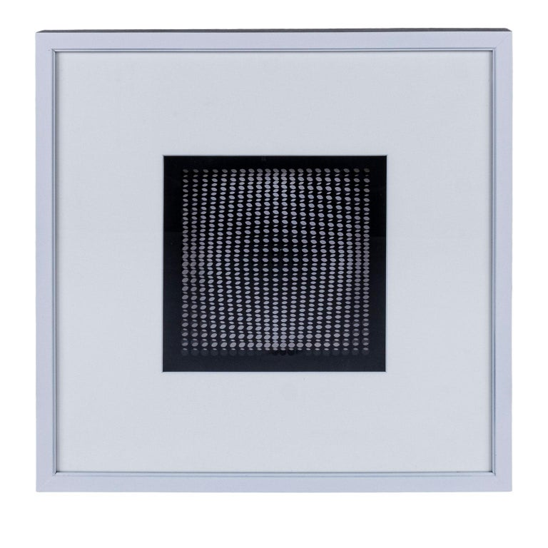 Hand-Crafted Four Vasarely Prints, Oeuvres Profondes For Sale