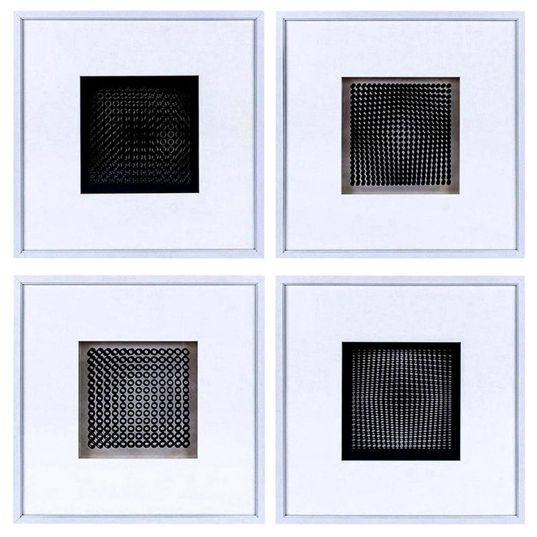 Late 20th Century Four Vasarely Prints, Oeuvres Profondes For Sale