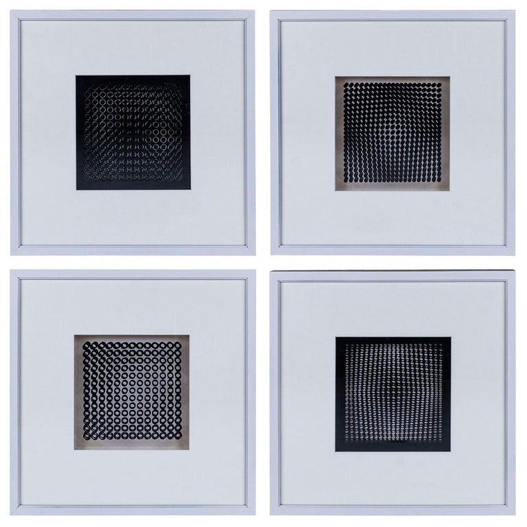 Four Vasarely Prints, Oeuvres Profondes For Sale