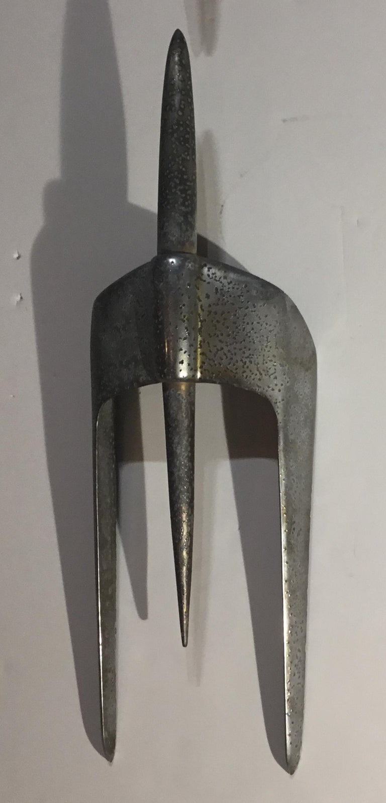 Four Vintage Airplane Wing Hood Car Ornaments Wall Hanging In Good Condition For Sale In Delray Beach, FL