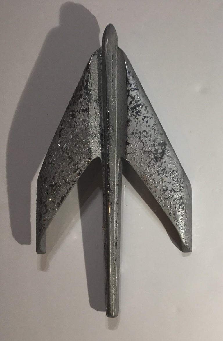 Mid-20th Century Four Vintage Airplane Wing Hood Car Ornaments Wall Hanging For Sale
