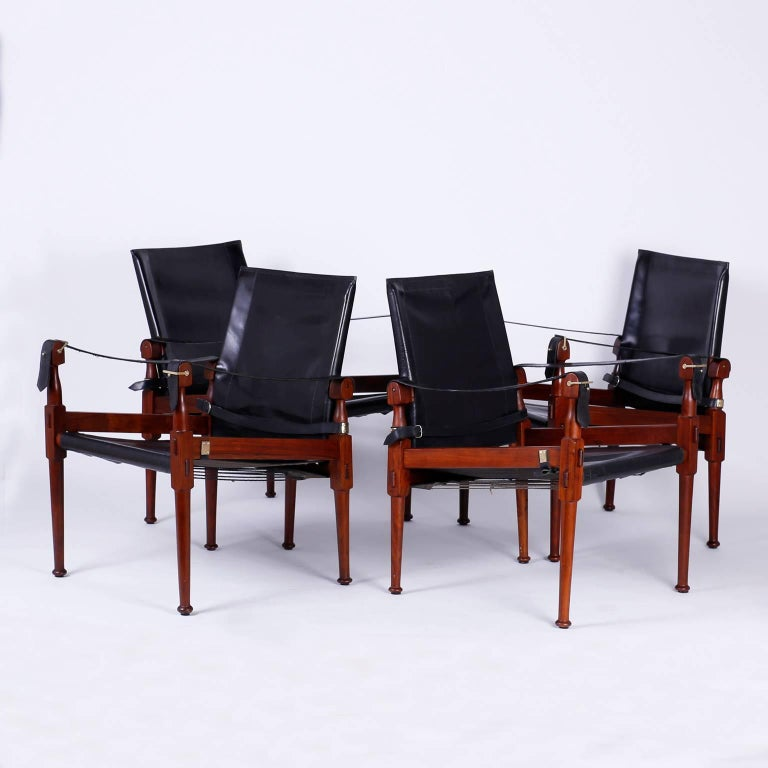 Vintage Furniture For Sale Online: Four Vintage Campaign Safari Chairs For Sale At 1stdibs