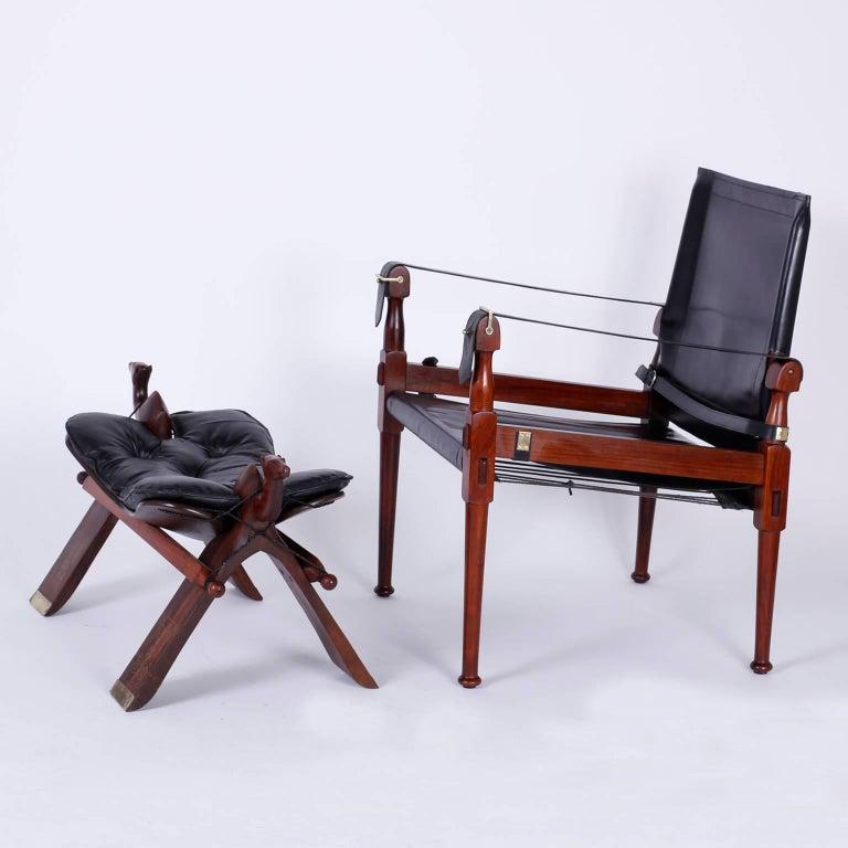 Four Vintage Campaign Safari Chairs For Sale 1