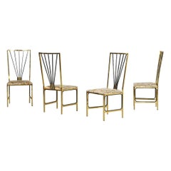 Four Vintage Chairs Attributed to Romeo Rega, 1980s