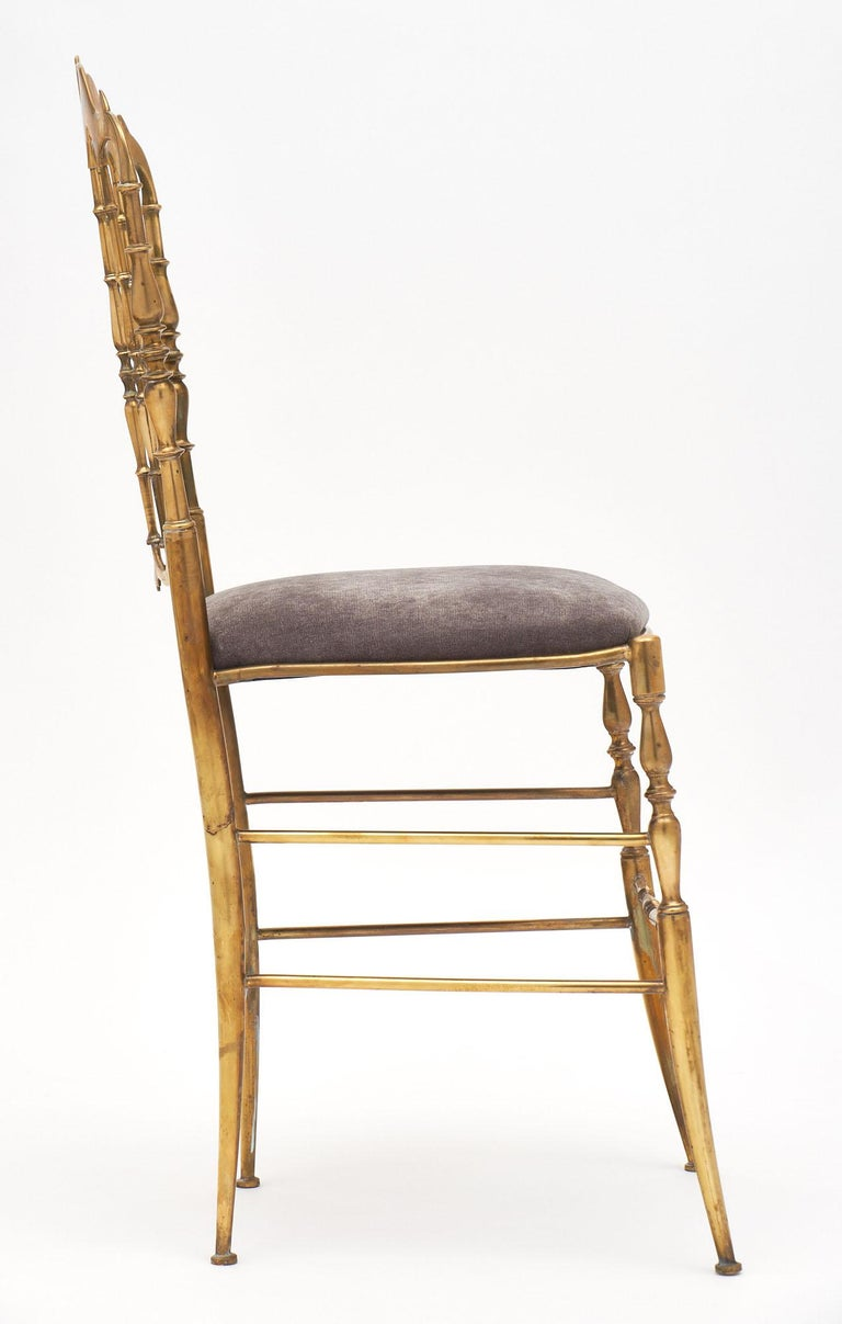 Brass Four Vintage Chiavari Chairs For Sale