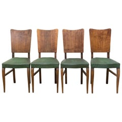 Four Vintage Dining Chairs to Be Re-Upholstered, French, circa 1950