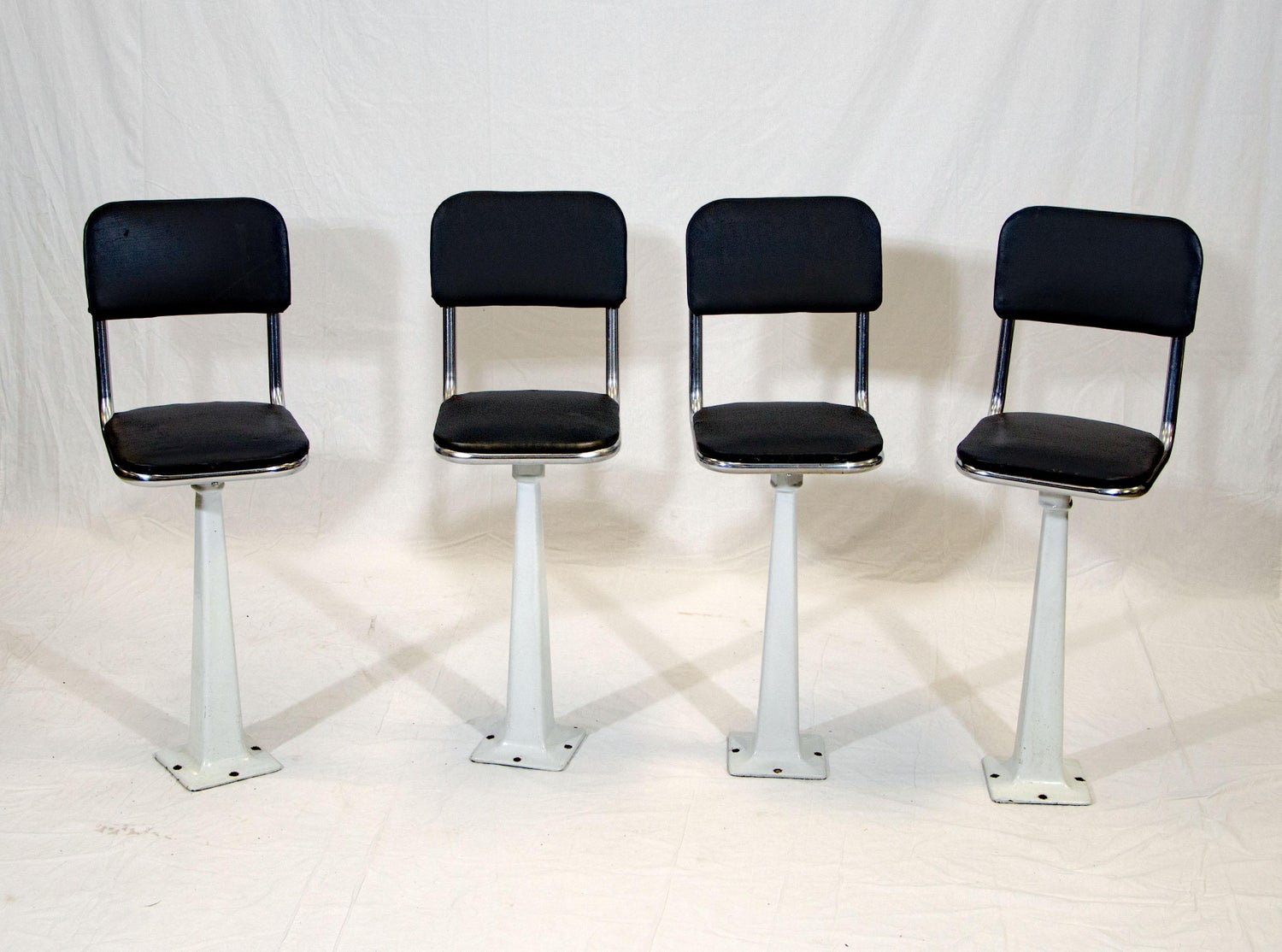 Incredible Four Vintage Ice Cream Parlor Soda Fountain Stools Alphanode Cool Chair Designs And Ideas Alphanodeonline
