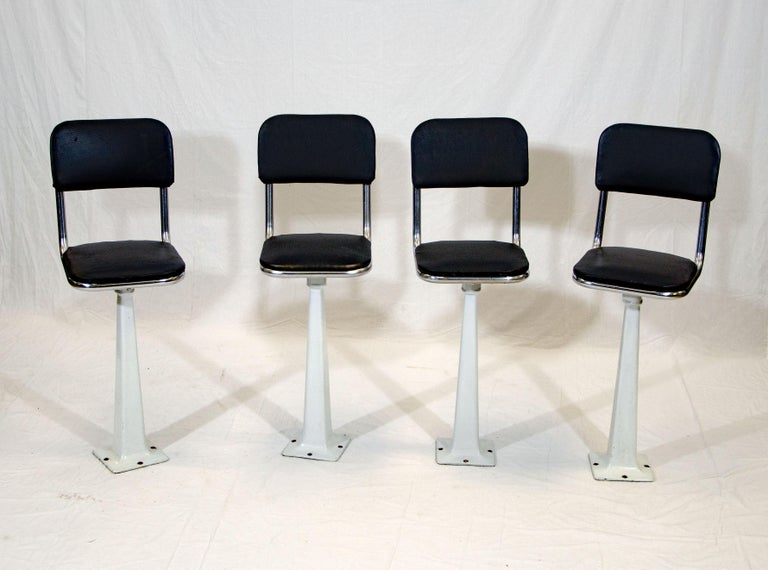 American Four Vintage Ice Cream Parlor, Soda Fountain Stools For Sale