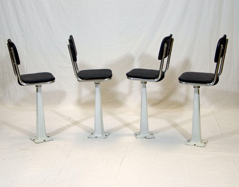 Four Vintage Ice Cream Parlor Soda Fountain Stools For
