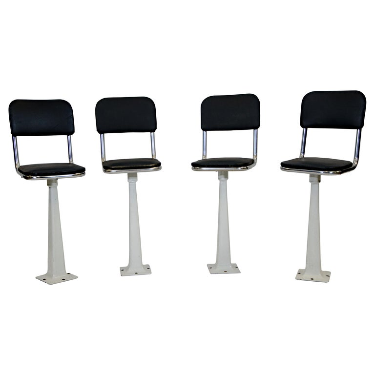 Four Vintage Ice Cream Parlor, Soda Fountain Stools For Sale