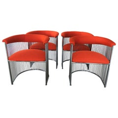 Four Vintage Modern Warren Platner Style Dining Chairs