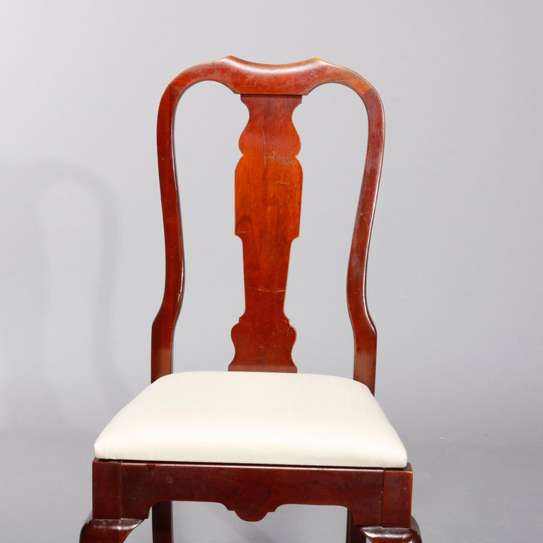 American Four Vintage Pennsylvania House Cherry Queen Anne Style Dining Chairs For Sale