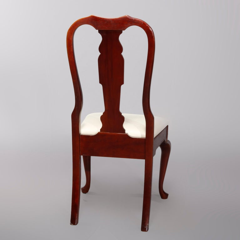 20th Century Four Vintage Pennsylvania House Cherry Queen Anne Style Dining Chairs For Sale