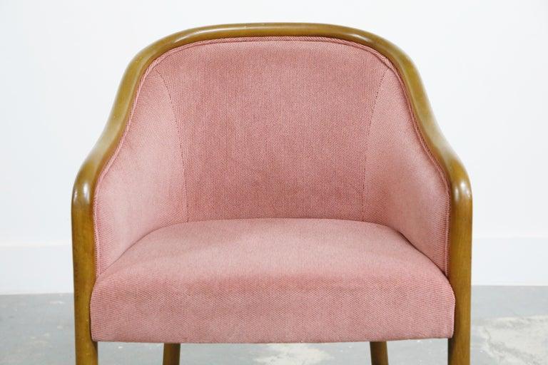 Four Ward Bennett for Brickell Associates Pink Velvet Dining Armchairs, c. 1970 For Sale 4