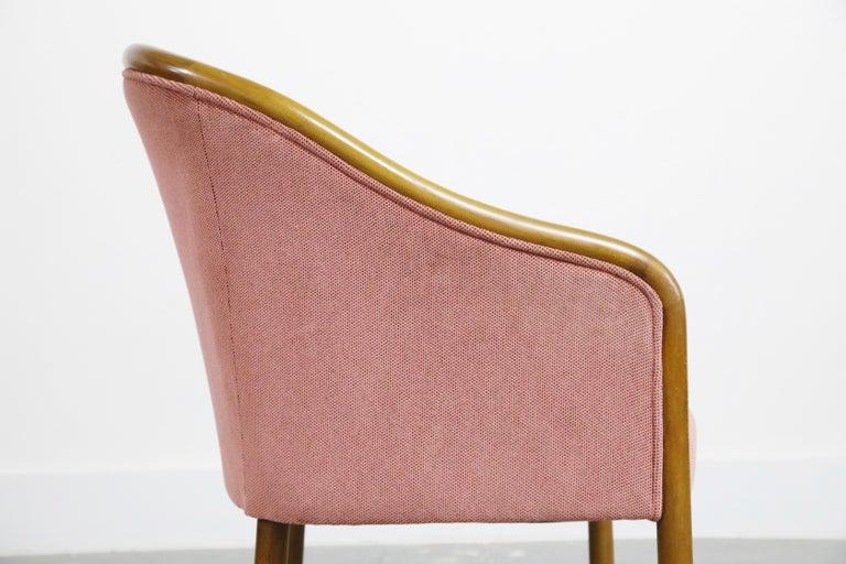 Four Ward Bennett for Brickell Associates Pink Velvet Dining Armchairs, c. 1970 For Sale 12