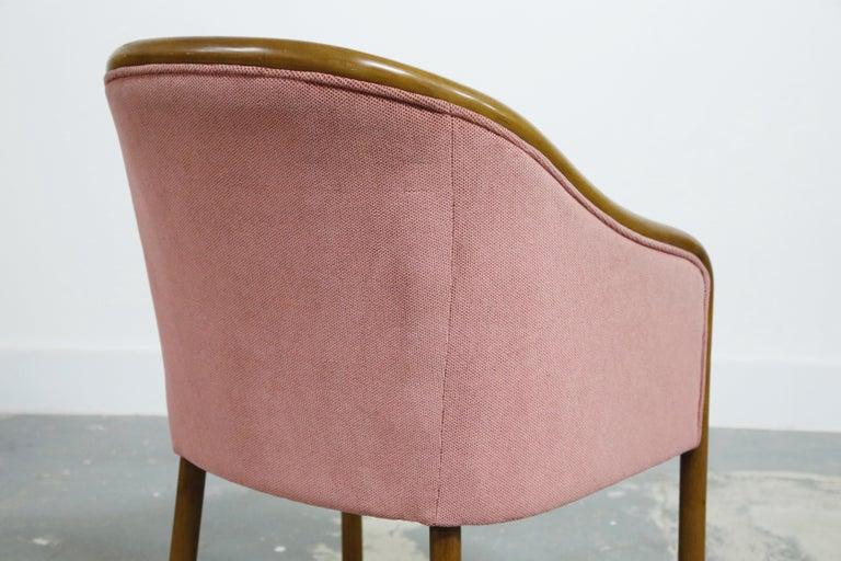 Four Ward Bennett for Brickell Associates Pink Velvet Dining Armchairs, c. 1970 For Sale 14