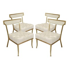 "Four White and Brass Chairs by William ""Billy"" Haines"