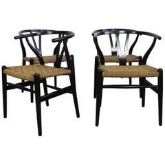 Four Wishbone Chairs by Hans Wegner 'CH-24'