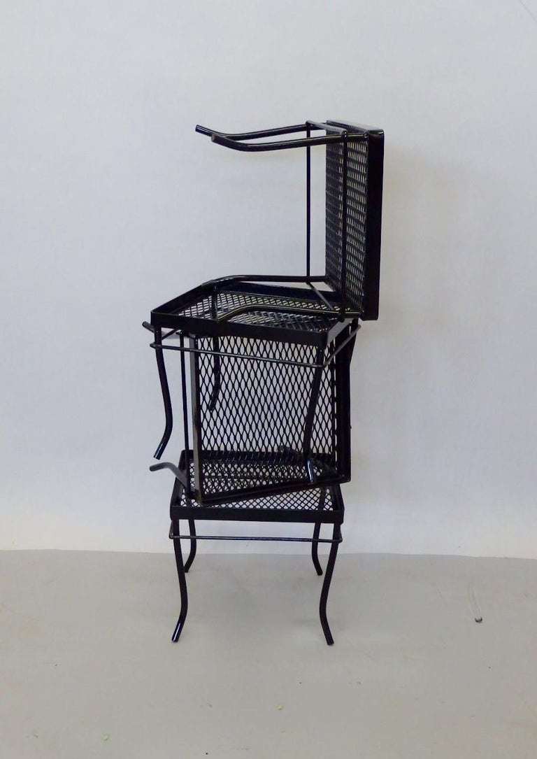 American Four Woodard Wrought Iron Side Tables or Stands For Sale