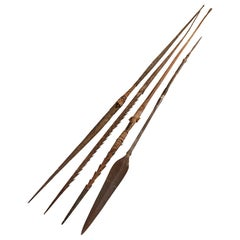 Four Wooden and Iron Hunting Spears from Africa