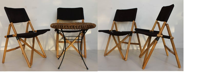 Four Zanotta Quot Navy Quot Folding Chairs By Sergio Asti For Sale