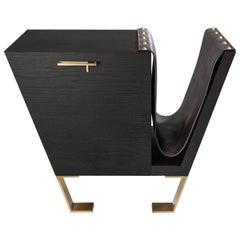 Fourmosa Cabinet with Magazine Holder