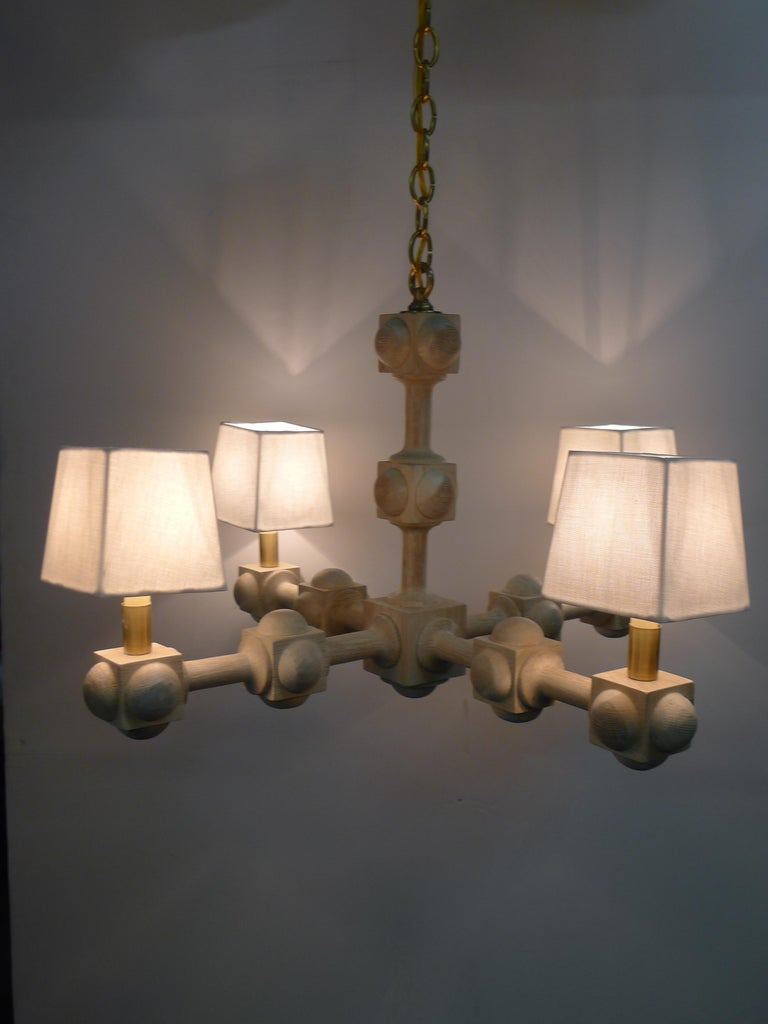 Modern Foursquare Chandelier by Paul Marra For Sale