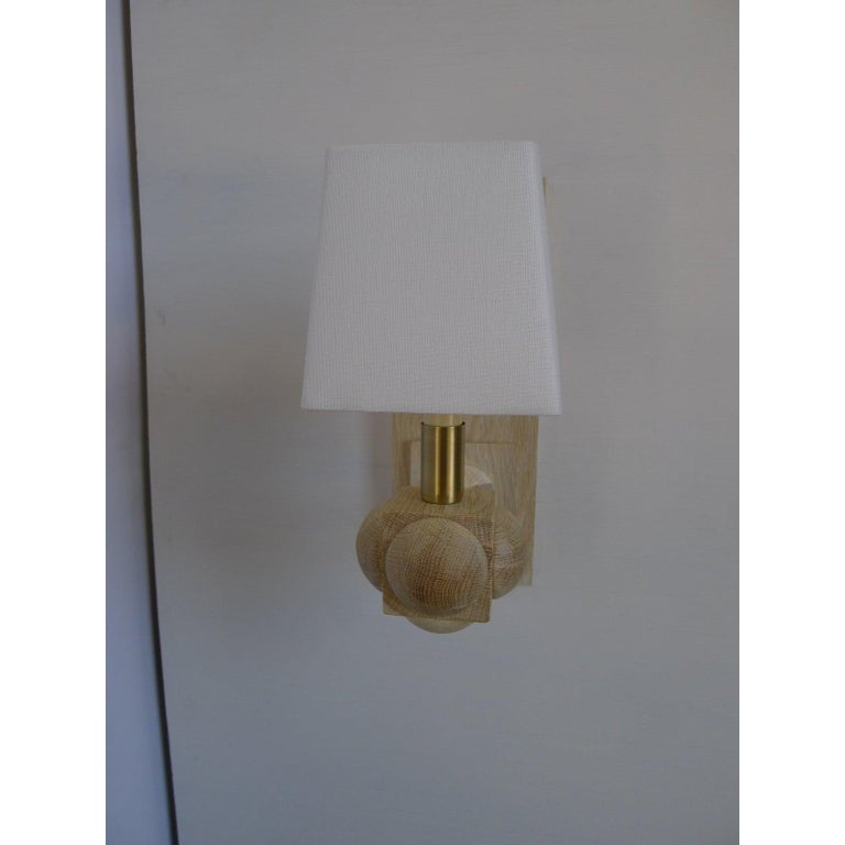 Modern Foursquare Sconce by Paul Marra For Sale