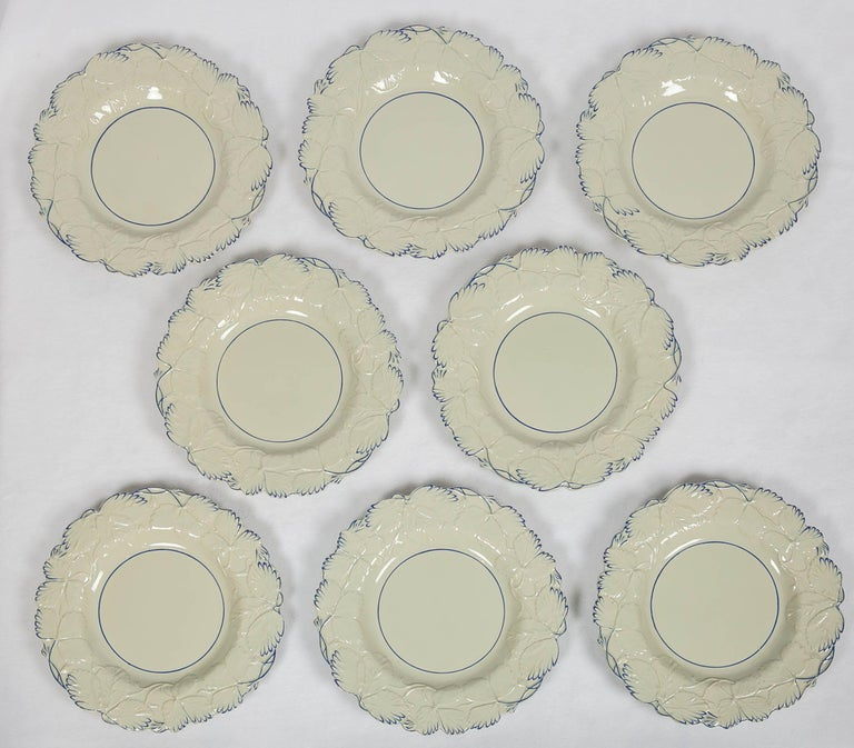 WHY WE LOVE IT: Often less is more. We are pleased to present this set of fourteen drabware plates made in England in the mid-19th century. Drabware is distinctive from other pottery because the color of the plate is the color of the original clay.