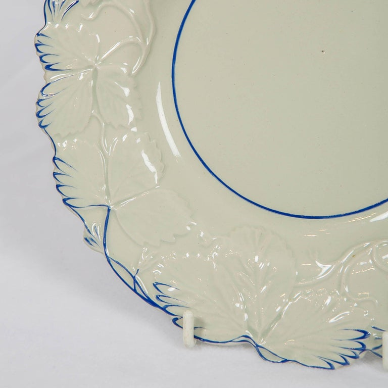 English Fourteen Drabware Plates Made in England, circa 1840 For Sale
