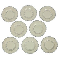 Fourteen Drabware Plates Made in England, circa 1840