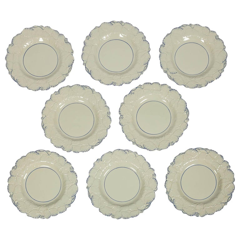 Fourteen Drabware Plates Made in England, circa 1840 For Sale