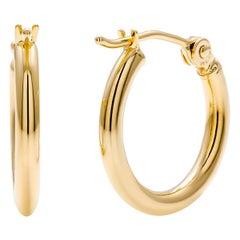 Fourteen Karat Yellow Gold Mini Hoop Earrings