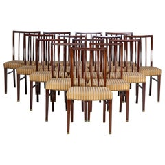 Fourteen Mahogany Dining Chairs