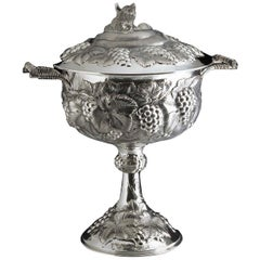 Fox and Grapes Large Silver Chalice
