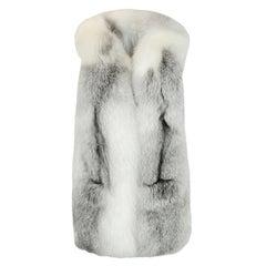 Fox Fur Vest sz S/M