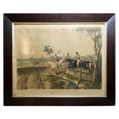 "Fox Hunting ""Full Cry"" Lithograph by English Artist J. F. Herring"