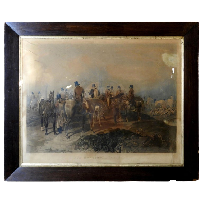 "Fox Hunting ""The Meet"" Lithograph by Artist J. F. Herring For Sale"