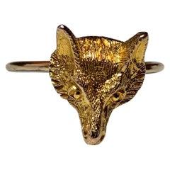 Fox Ring Antique Victorian Edwardian Gold, circa 1900