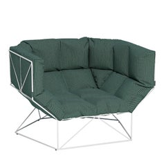 Foxhole 120 Alpine Green Armchair by Nathan Yong