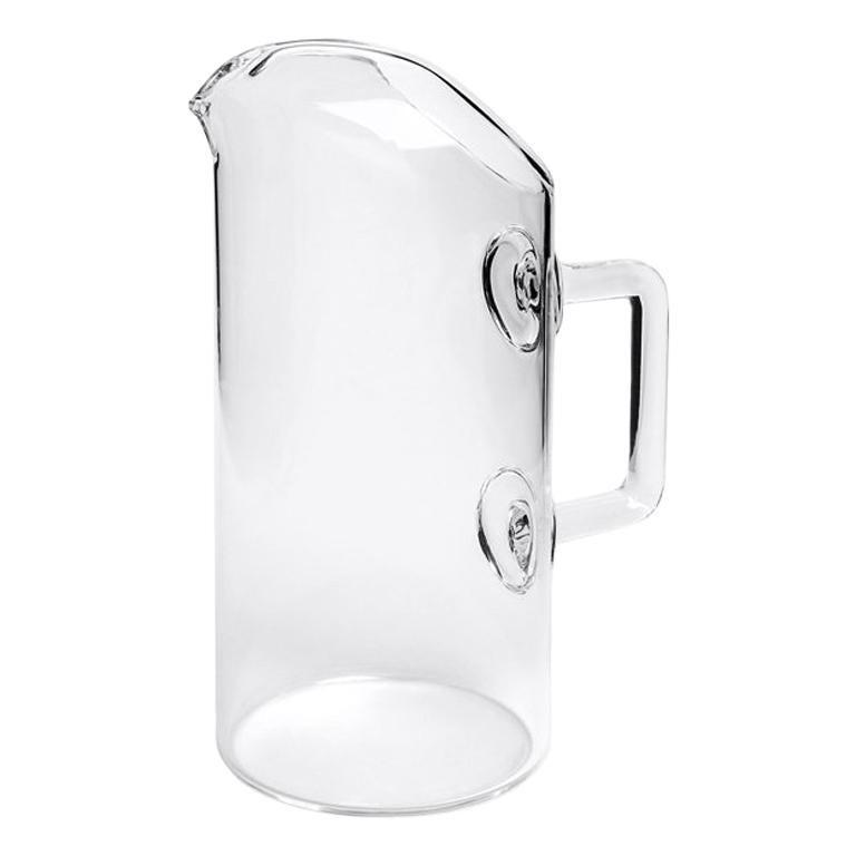 Foxy Blown Glass Carafe by Aldo Cibic