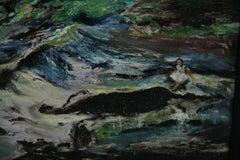American Impressionist oil Landscape Beside Still Waters 1963