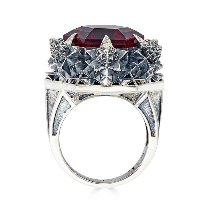 Fractal Gold Topaz Ring For Sale 7